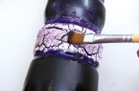 art9 Técnica craquelê em garrafa decorativa