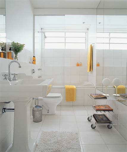 decoracao banheiro simples pequeno:Banheiros pequenos