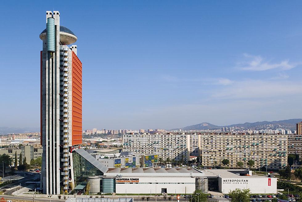 Hotel Hesperia Tower em Barcelona por Richard Rogers Restaurante Evo em Barcelona por Richard Rogers