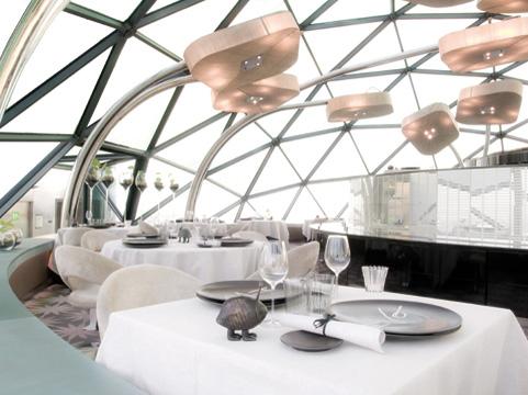 Restaurante EVO do Hotel Hesperia Tower em Barcelona Arquiteto Richard Rogers Restaurante Evo em Barcelona por Richard Rogers