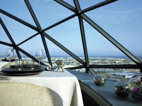 Vista do Restaurante EVO do Hotel Hesperia Tower em Barcelona pelo Arquiteto Richard Rogers Restaurante Evo em Barcelona por Richard Rogers