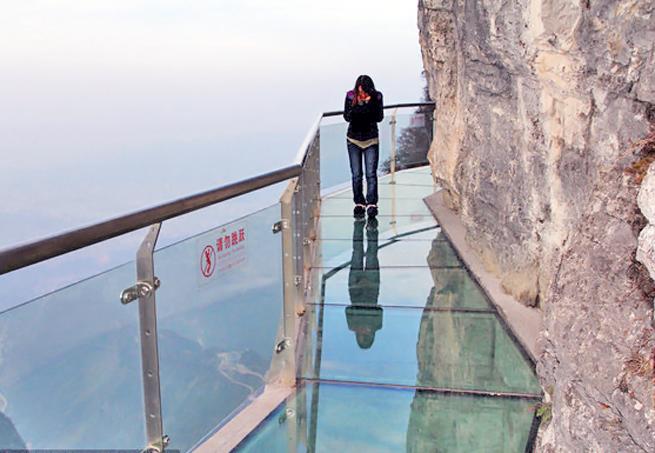 Ponte de Vidro da Montanha Tianmen China China inaugura ponte de vidro a 1.430 metros de altura (vídeo)