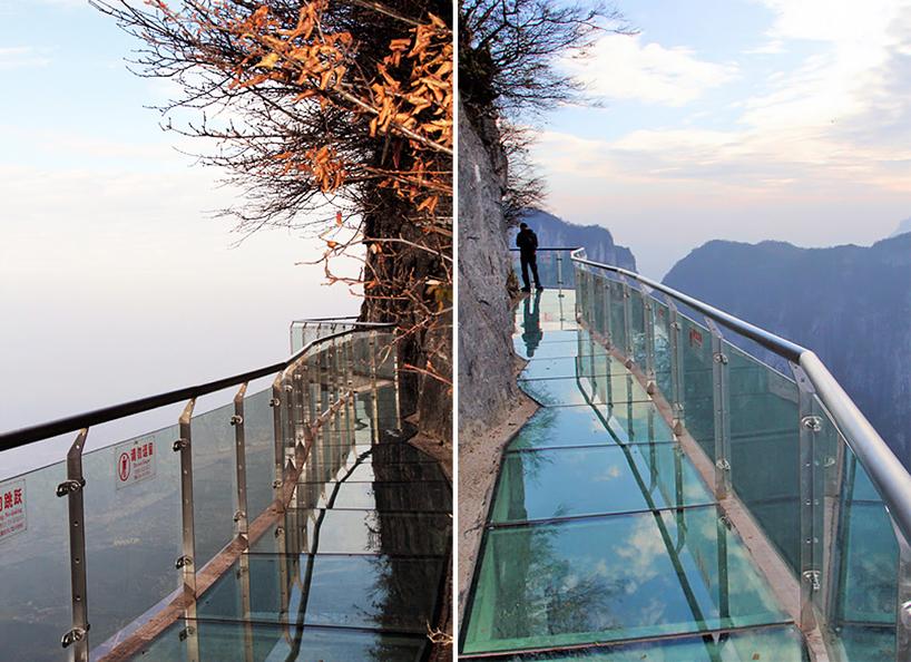 Ponte de Vidro na Montanha Tianmen China China inaugura ponte de vidro a 1.430 metros de altura (vídeo)