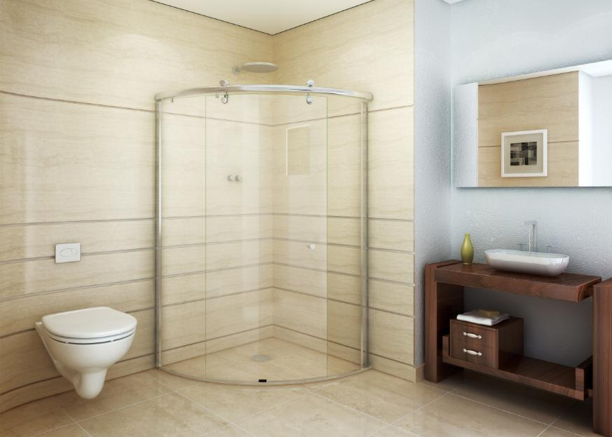 kits decoracao banheiro: Glass apresenta seus tradicionais kits para box na Kitchen & Bath 2012
