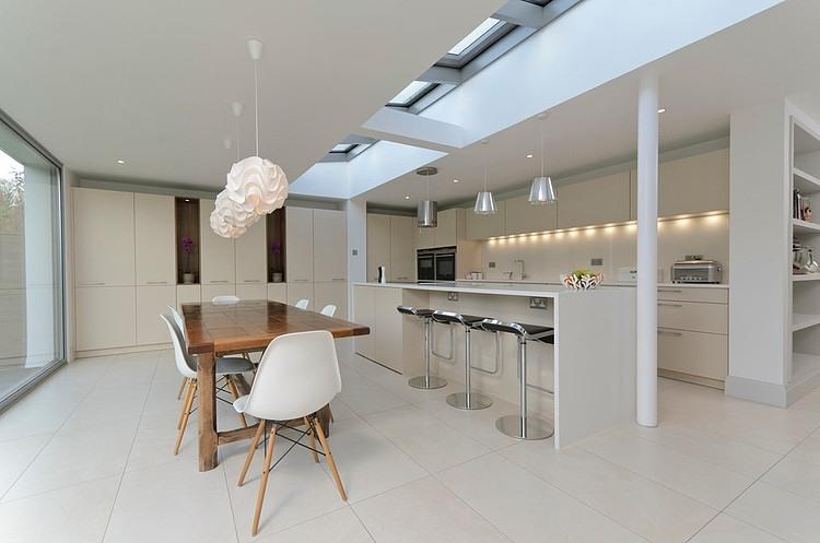 decoracao de cozinha integrada a sala de jantar:Moon Design