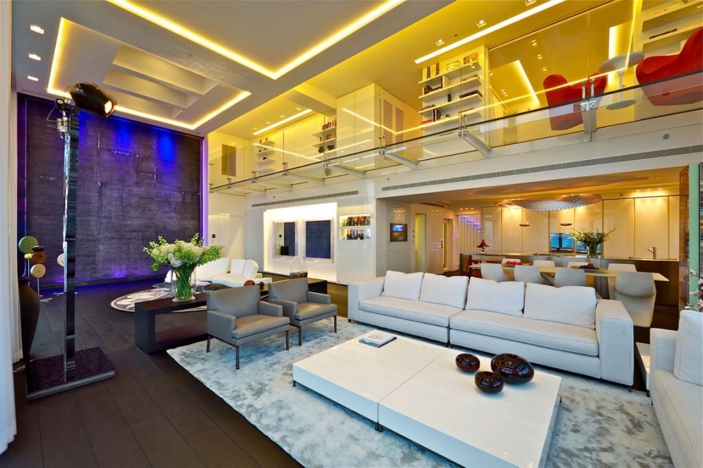 sala-de-estar-em-pe-direito-duplo-cobertura-triplex-em-tel-aviv-israel
