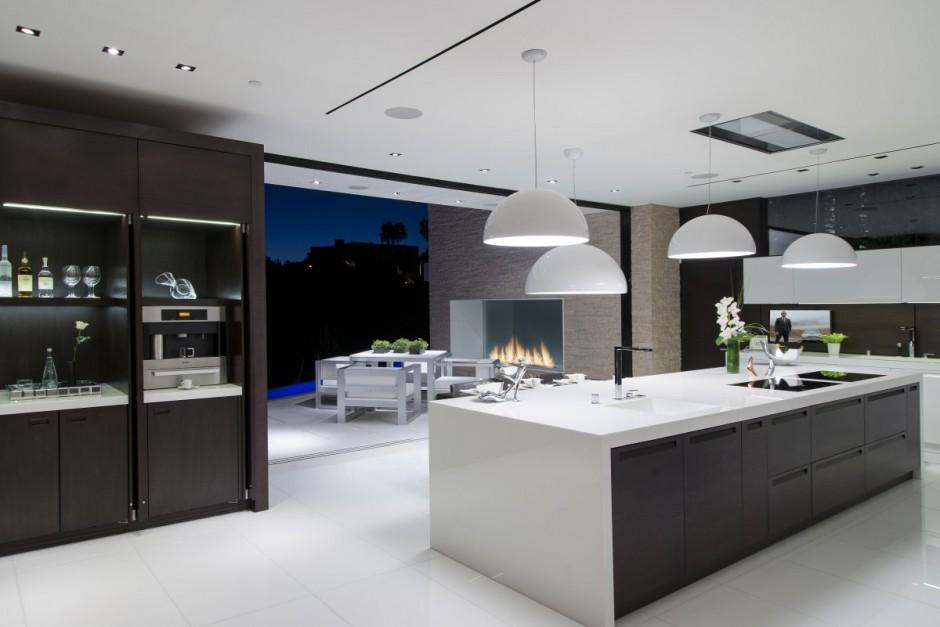 Cozinha Cozinha-planejada-casa-em-beverly-hills-california