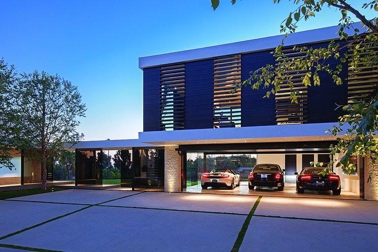 Garagem da Mansão Garagem-casa-em-beverly-hills-california