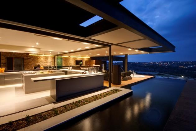 decoracao-cozinha-integrada-ao-jardim-casa-em-pretoria-africa-do-sul